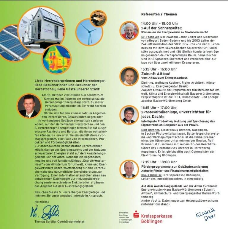 Herbstschau Vom 1110 Bis 14102013 Firma Brenner Hält Als